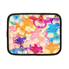 Colorful Pansies Field Netbook Case (Small)