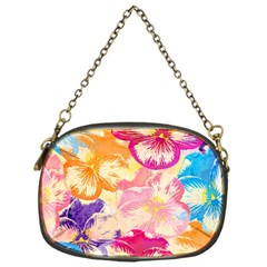 Colorful Pansies Field Chain Purses (one Side)  by DanaeStudio