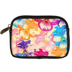 Colorful Pansies Field Digital Camera Cases by DanaeStudio