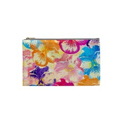Colorful Pansies Field Cosmetic Bag (small)  by DanaeStudio