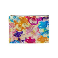 Colorful Pansies Field Cosmetic Bag (medium)  by DanaeStudio