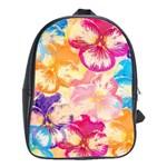 Colorful Pansies Field School Bags(Large)