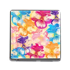 Colorful Pansies Field Memory Card Reader (Square)