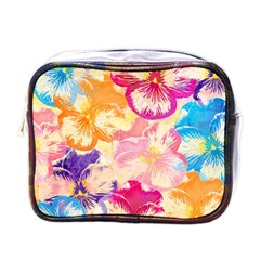 Colorful Pansies Field Mini Toiletries Bags by DanaeStudio