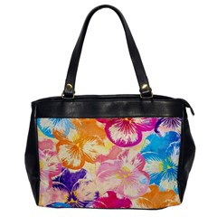 Colorful Pansies Field Office Handbags by DanaeStudio