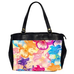 Colorful Pansies Field Office Handbags (2 Sides)  by DanaeStudio