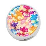 Colorful Pansies Field 4-Port USB Hub (Two Sides)