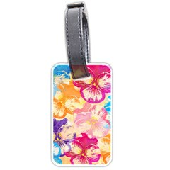 Colorful Pansies Field Luggage Tags (one Side)
