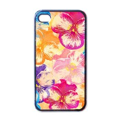 Colorful Pansies Field Apple Iphone 4 Case (black) by DanaeStudio