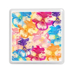 Colorful Pansies Field Memory Card Reader (square)  by DanaeStudio