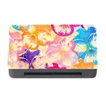 Colorful Pansies Field Memory Card Reader with CF