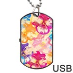 Colorful Pansies Field Dog Tag USB Flash (Two Sides)