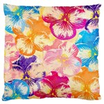 Colorful Pansies Field Large Cushion Case (Two Sides)