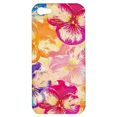 Colorful Pansies Field Apple Iphone 5 Hardshell Case by DanaeStudio
