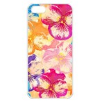 Colorful Pansies Field Apple iPhone 5 Seamless Case (White)