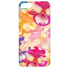 Colorful Pansies Field Apple Iphone 5 Classic Hardshell Case by DanaeStudio