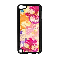 Colorful Pansies Field Apple Ipod Touch 5 Case (black) by DanaeStudio