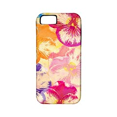 Colorful Pansies Field Apple Iphone 5 Classic Hardshell Case (pc+silicone) by DanaeStudio