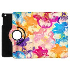 Colorful Pansies Field Apple Ipad Mini Flip 360 Case by DanaeStudio