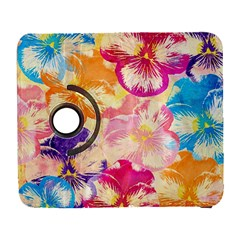 Colorful Pansies Field Galaxy S3 (flip/folio) by DanaeStudio