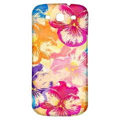 Colorful Pansies Field Samsung Galaxy S3 S III Classic Hardshell Back Case