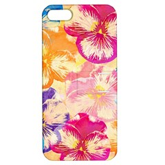 Colorful Pansies Field Apple Iphone 5 Hardshell Case With Stand by DanaeStudio
