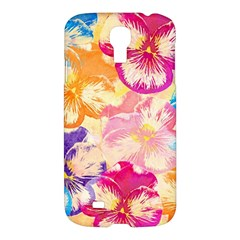 Colorful Pansies Field Samsung Galaxy S4 I9500/I9505 Hardshell Case