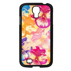 Colorful Pansies Field Samsung Galaxy S4 I9500/ I9505 Case (black) by DanaeStudio