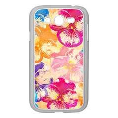 Colorful Pansies Field Samsung Galaxy Grand DUOS I9082 Case (White)