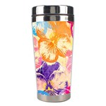 Colorful Pansies Field Stainless Steel Travel Tumblers