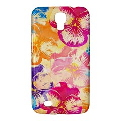 Colorful Pansies Field Samsung Galaxy Mega 6 3  I9200 Hardshell Case by DanaeStudio