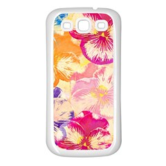 Colorful Pansies Field Samsung Galaxy S3 Back Case (white) by DanaeStudio