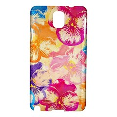 Colorful Pansies Field Samsung Galaxy Note 3 N9005 Hardshell Case by DanaeStudio