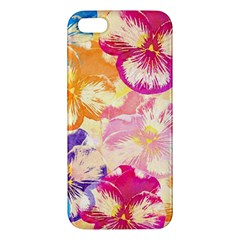 Colorful Pansies Field Iphone 5s/ Se Premium Hardshell Case by DanaeStudio