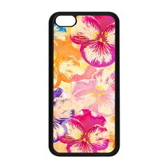 Colorful Pansies Field Apple Iphone 5c Seamless Case (black) by DanaeStudio