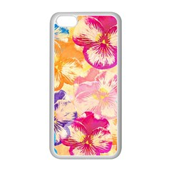 Colorful Pansies Field Apple Iphone 5c Seamless Case (white) by DanaeStudio