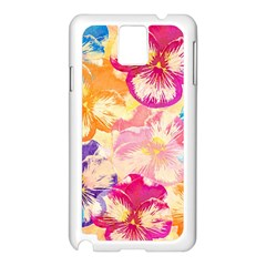 Colorful Pansies Field Samsung Galaxy Note 3 N9005 Case (white) by DanaeStudio