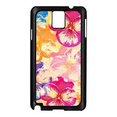 Colorful Pansies Field Samsung Galaxy Note 3 N9005 Case (black) by DanaeStudio