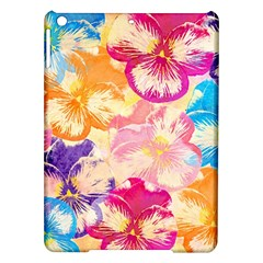 Colorful Pansies Field Ipad Air Hardshell Cases by DanaeStudio