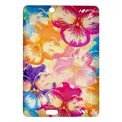 Colorful Pansies Field Amazon Kindle Fire Hd (2013) Hardshell Case by DanaeStudio