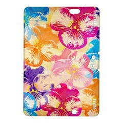Colorful Pansies Field Kindle Fire Hdx 8 9  Hardshell Case by DanaeStudio