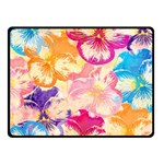 Colorful Pansies Field Double Sided Fleece Blanket (Small)