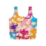 Colorful Pansies Field Full Print Recycle Bags (S)