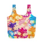 Colorful Pansies Field Full Print Recycle Bags (M)