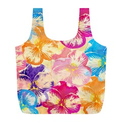 Colorful Pansies Field Full Print Recycle Bags (l)  by DanaeStudio