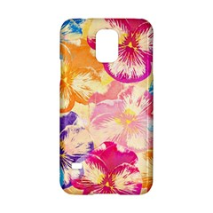 Colorful Pansies Field Samsung Galaxy S5 Hardshell Case  by DanaeStudio