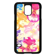 Colorful Pansies Field Samsung Galaxy S5 Case (black) by DanaeStudio