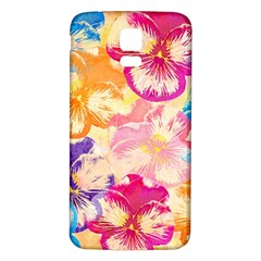 Colorful Pansies Field Samsung Galaxy S5 Back Case (White)