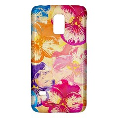 Colorful Pansies Field Galaxy S5 Mini by DanaeStudio