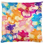 Colorful Pansies Field Large Flano Cushion Case (One Side)